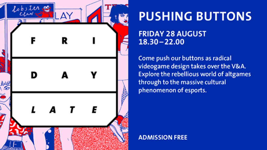 Pushing Buttons at the V&A Aug 2015