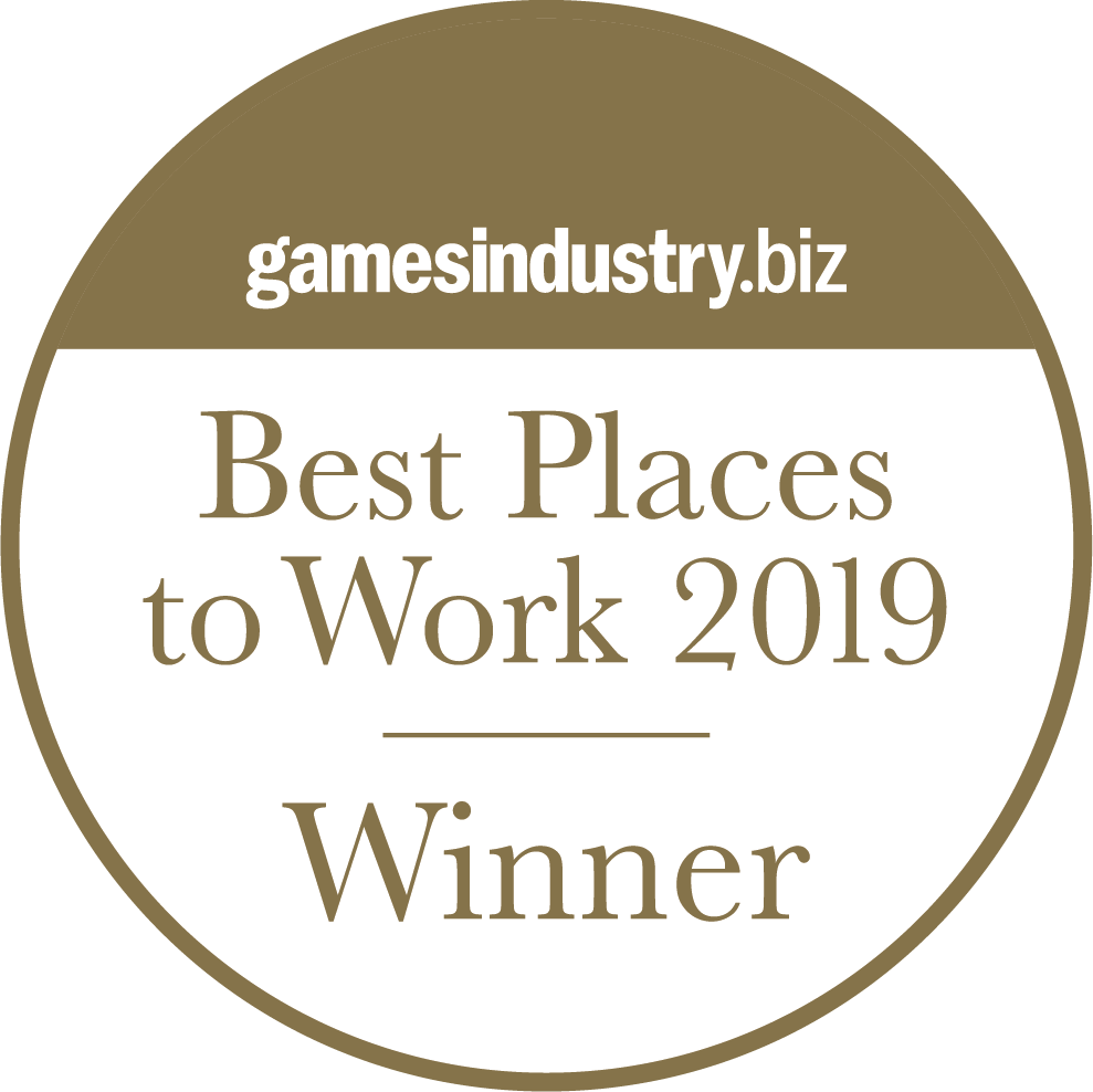 GamesIndustry.biz Best Place to Work! Gold Winner 2019