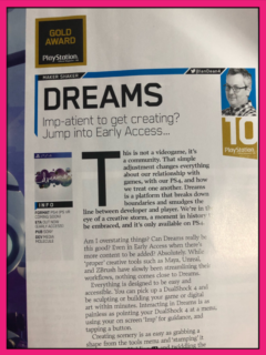 Dreams Gets a 10/10!!