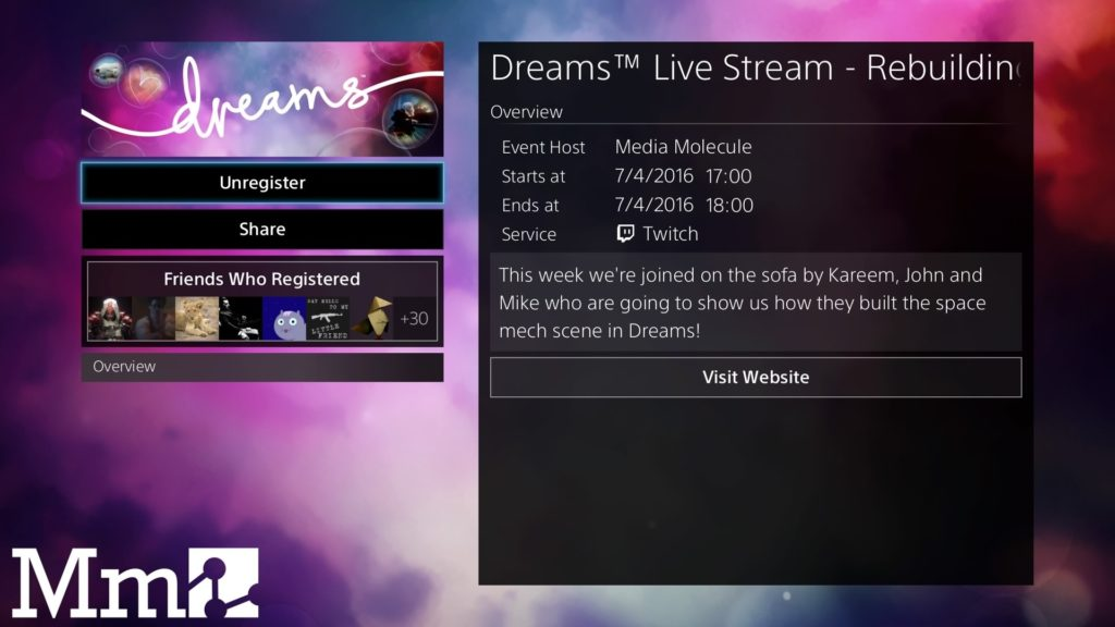Dreams Live Stream Rebuilding The Space Mech Scene