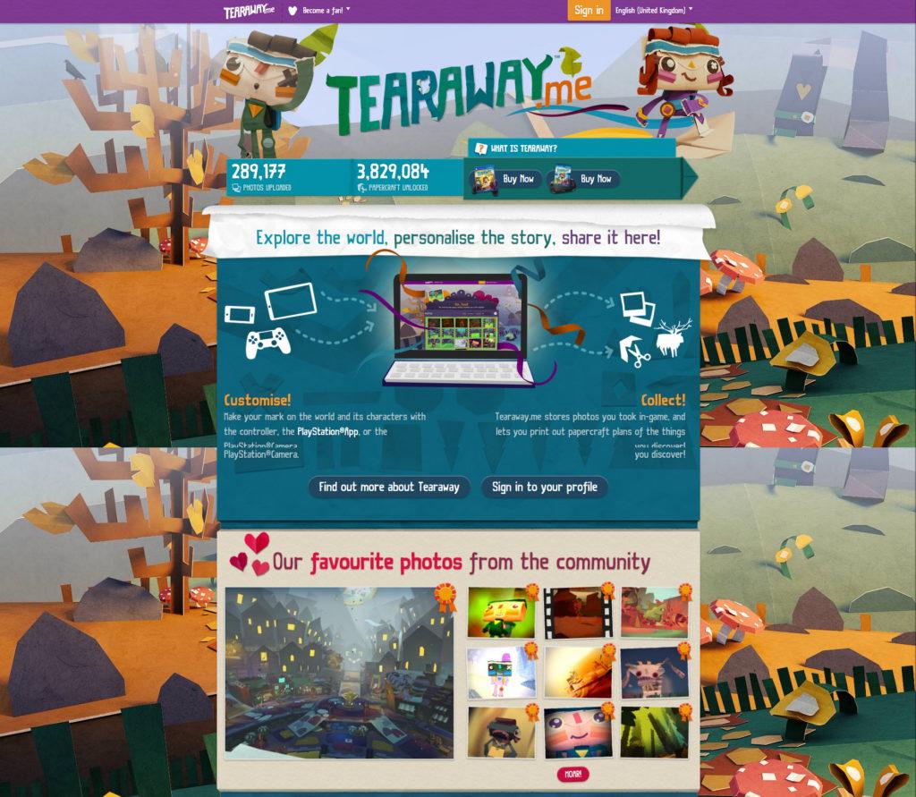 tearaway.me-homepage