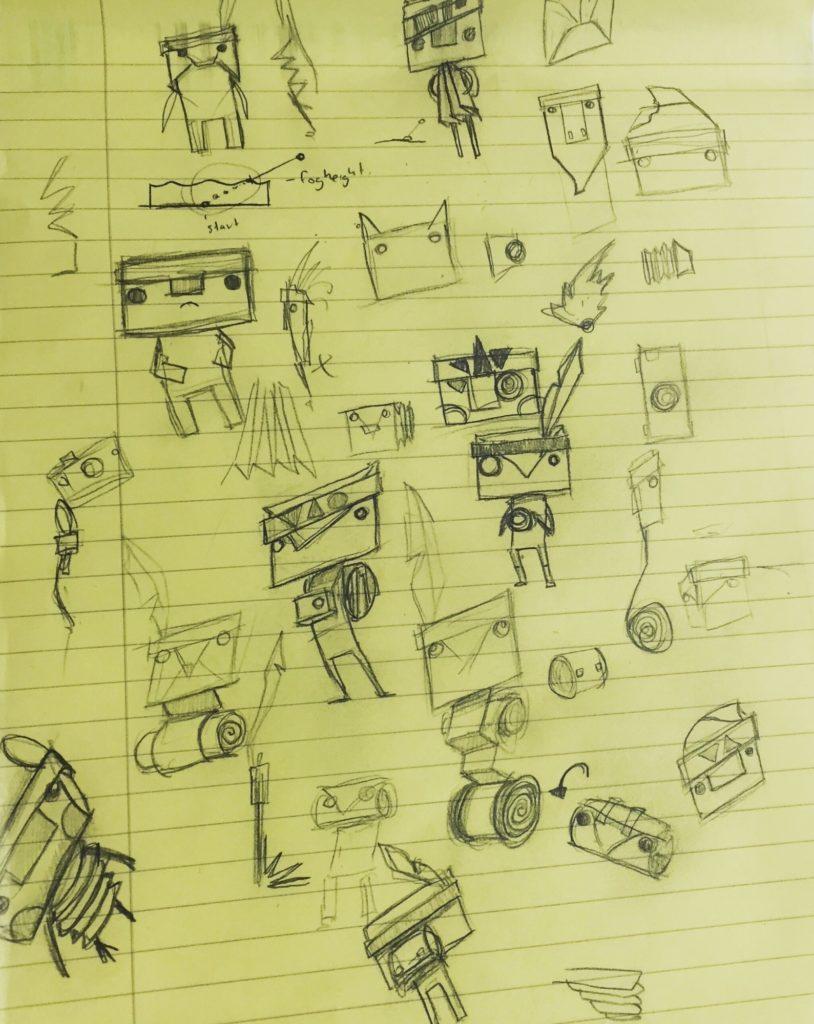 Tearaway Concept Art Iota Doodles