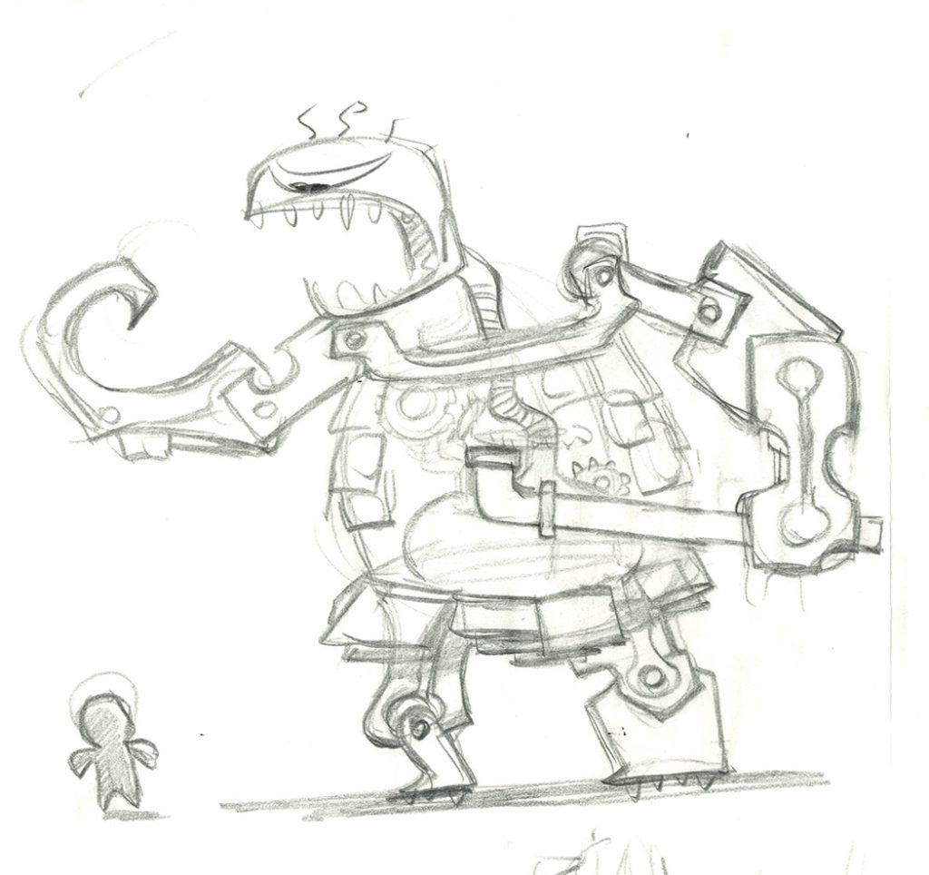 littlebigplanet concept art  enemies