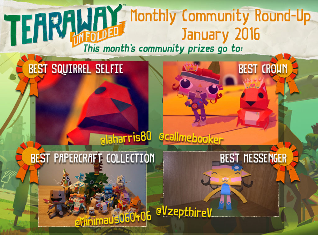 Tearaway Community Roundup January 2016