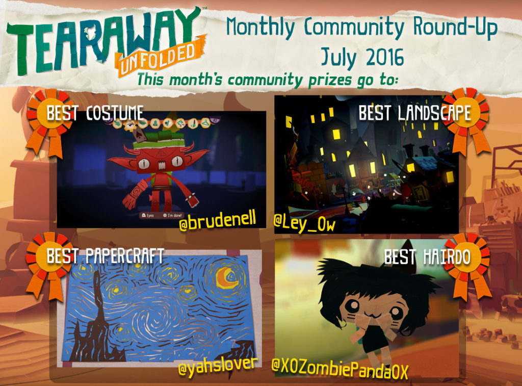 Tearaway Unfolded Community Roundup July