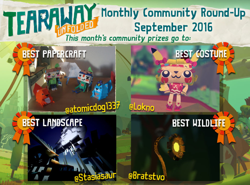 Tearaway Unfolded Community Roundup September 2016