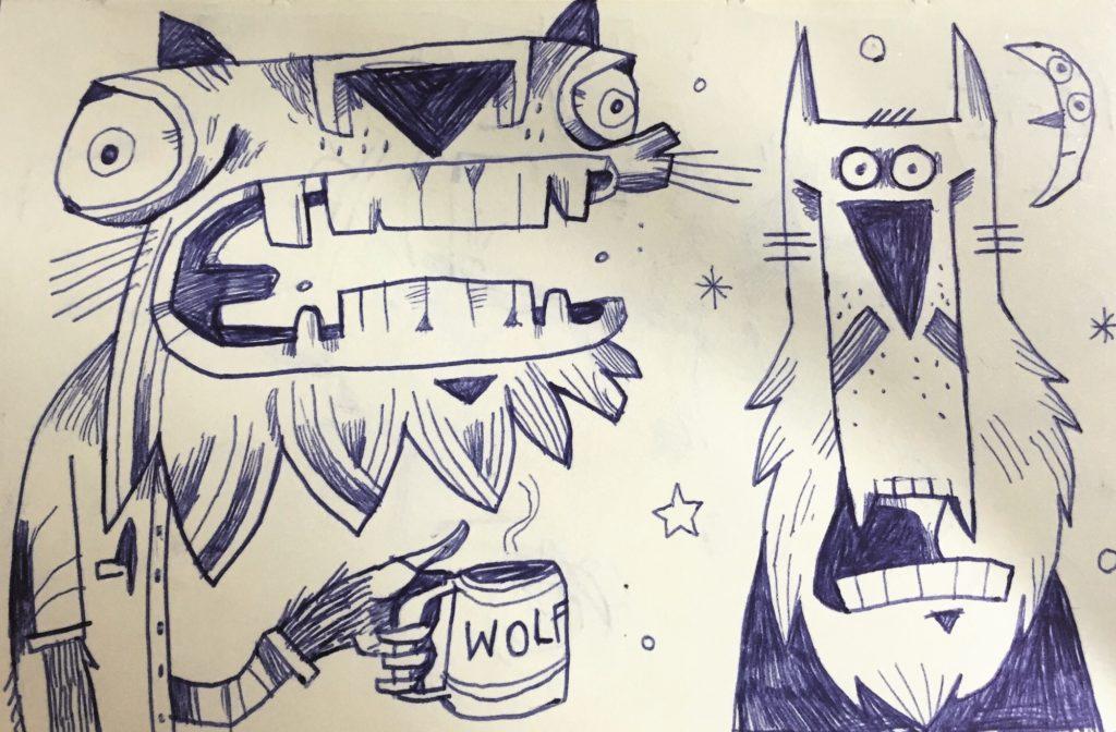 Found Art Rex Wolf Doodle